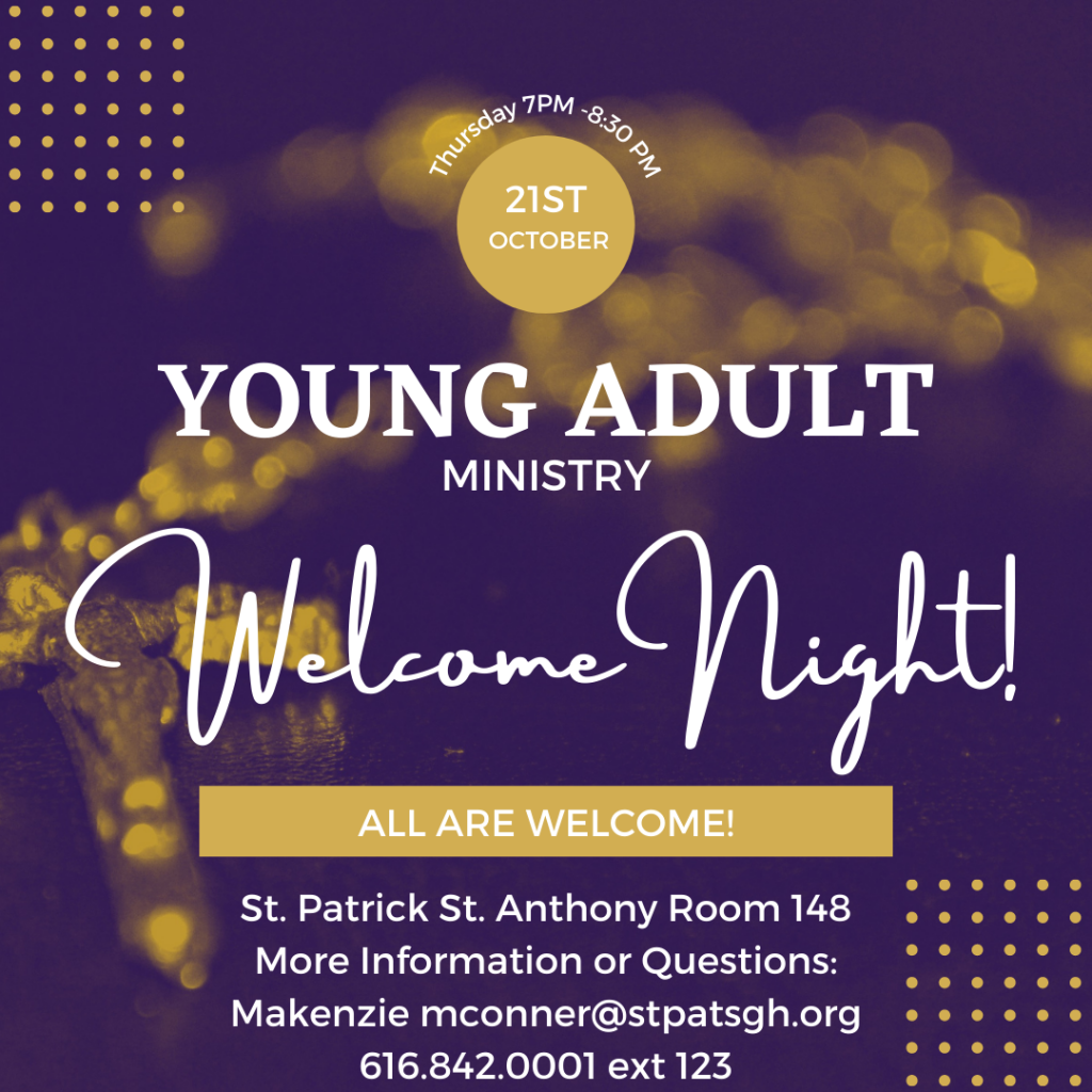 Welcome Night: Young Adult Ministry
